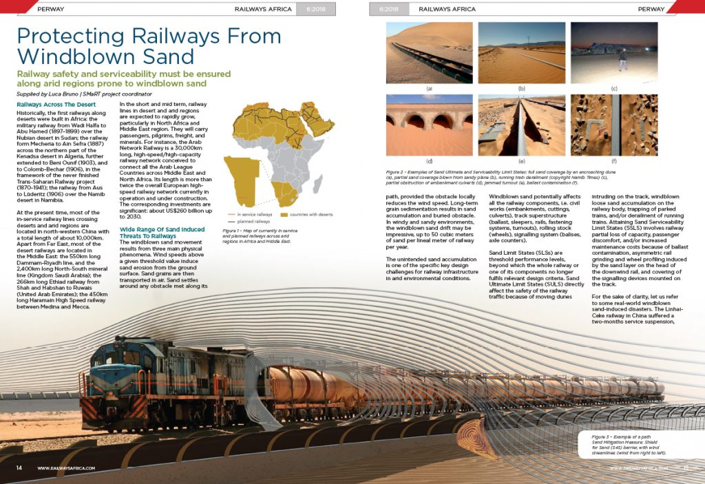 Article on SMaRT project has been published in <b>Railways Africa</b>